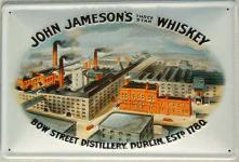 John Jameson's Three Star Whiskey Blechschild