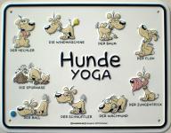 Fun-Schild - Hunde Yoga