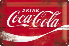 Coca-Cola - Red Wave Blechschild