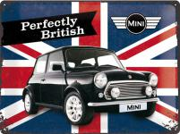 Mini Cooper - Perfectly British Blechschild