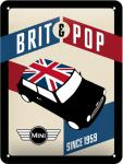 Mini Cooper - Brit Pop Blechschild