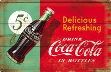 Coca-Cola - Delicious Refreshing Green Blechschild