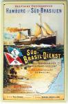 Hamburg nach Süd-Brasilien Blechschild