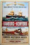 Kaiserlich Deutsche Post Hamburg-New York Blechschild