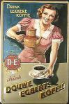 Douwe Egberts Koffie (braun) Blechschild