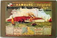 Hamburg-Helgoland-Sylt Blechschild