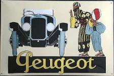 Peugeot Blechschild