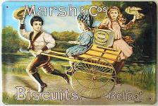 Marsh & Co Biscuits Blechschild