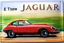 Jaguar E Type Blechschild
