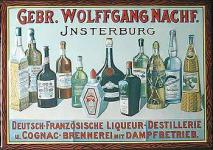 Gebrüder Wolffgang Nachf. Blechschild