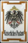 Kaiserliches Postamt Blechschild