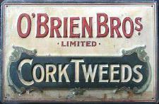 O'Brien Bros Cork Tweeds Blechschild