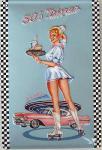 Sara Horwath 50's Diner Blechschild