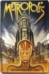 Metropolis braun Blechschild