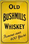 Old Bushmills Whiskey (gelb) Blechschild