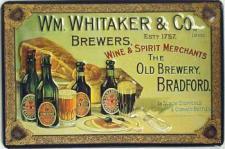 WM. Whitaker & Co Blechschild