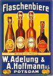 Adelung & Hoffmann Flaschenbiere Blechschild