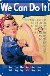 We Can Do It Kalender Blechschild