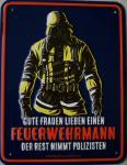Funschild Feuerwehrmann