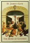 Blechpostkarte Guinness - St. James Gate