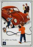 Blechpostkarte VW er gehört zur Familie