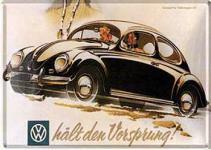 Blechpostkarte VW hält den Vorsprung