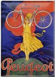 Blechpostkarte Peugeot Paris