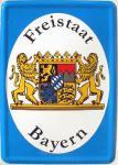Blechpostkarte Freistaat Bayern
