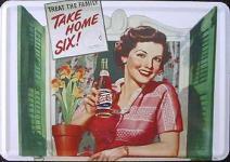 Blechpostkarte Pepsi Cola Take Home Six