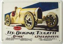 Blechpostkarte Bugatti original