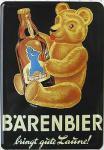Blechpostkarte Bärenbier