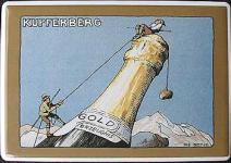 Blechpostkarte Kupferberg Sekt
