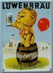 Löwenbräu Oktoberfest Bier Mini Blechschild