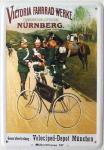 Blechpostkarte Victoria Fahrradwerke