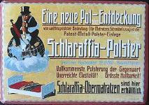 Blechpostkarte Schlaraffia Polster