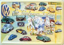 Blechpostkarte VW Fünfziger Jahre