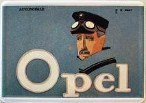 Blechpostkarte Opel Kopf