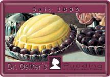 Blechpostkarte Dr. Oetker Pflaumen