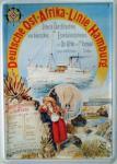 Blechpostkarte Deutsche Ost-Afrika-Linie Hamburg