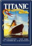Blechpostkarte Titanic dunkelblau