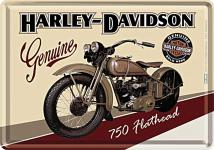Blechpostkarte Harley-Davidson Flathead