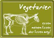 Blechpostkarte Vegetarier