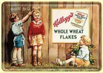 Blechpostkarte Kelloggs 3 Kids