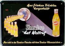 Blechpostkarte Sinalco Weltruf
