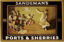 Sandeman's Ports & Sherries Blechschild