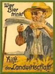Magnet Wer Bier trinkt hilft der Landwirtschaft