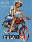 Magnet Ducati Pin Up Girl