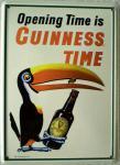 Guinness Tukan mit Flasche Mini Blechschild