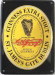 Guinness Black Label Mini-Blechschild
