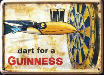 Guinness Dart for a Guinness Mini Blechschild